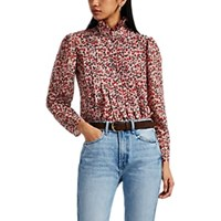 Robert Rodriguez Cayana Pleated Floral Blouse Pink