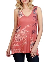 Lucky Brand Bird Graphic Tee Red Multicolor