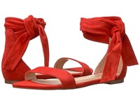Ivanka Trump Carthe Medium Red Savoy Suede Women's Sandals