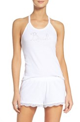 Betsey Johnson Women's Bride Pajamas Sonic White