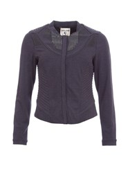 Garcia Fitted Collarless Jacket Navy