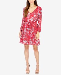 Lucky Brand Anaelisa Printed Fit And Flare Dress Red Multi