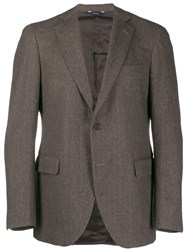 Tombolini Herringbone Blazer Brown