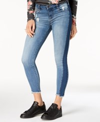 Celebrity Pink Juniors' Two Tone Skinny Jeans Dice Indigo
