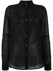 N 21 No21 Sheer Shirt Black
