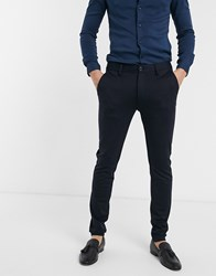 Soul Star Tapered Trouser In Navy
