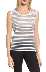 Ming Wang Women's Reversible Knit Tank White Black