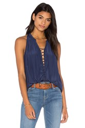 Ramy Brook Patricia Tank Navy