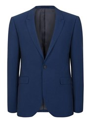 Topman Bright Blue Textured Stretch Skinny Fit Suit Jacket