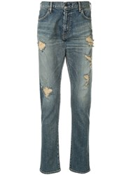 Makavelic Clashed Denim Pants Blue