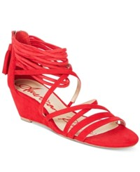 American Rag Mirah Demi Wedge Sandals Only At Macy's Women's Shoes Red