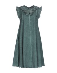 Collection Privee Knee Length Dresses Green