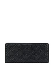 Tory Burch Quilted Logo Wallet Black