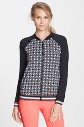 Trina Turk 'Bal Harbor' Baseball Jacket Black