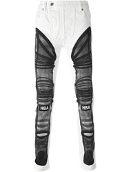Hood By Air Printed Skinny Jeans White