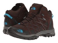 The North Face Storm Iii Mid Wp Demitasse Brown Hyper Blue Women's Hiking Boots