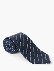 Tiger Of Sweden Torris Silk Tie Blue