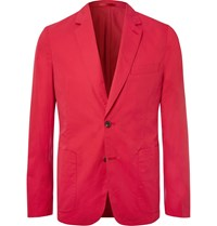 Paul Smith Sky Blue Soho Slim Fit Unstructured Cotton Blazer Red