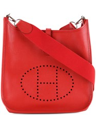 Hermes Vintage Evelyn Pm Shoulder Bag Red