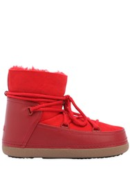 Inuikii 20Mm Suede And Leather Snow Boots Red