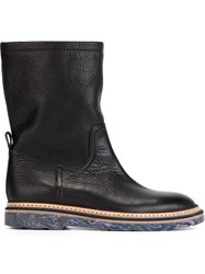 Paul Smith Marbled Sole Boots Black