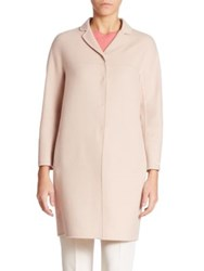 Max Mara Wool Blend Angora Jacket Powder Pink