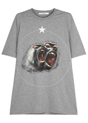Givenchy Grey Monkey Print Cotton T Shirt