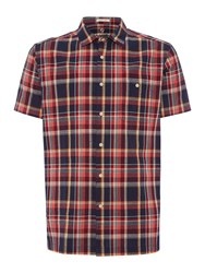 Howick Men's Mantua Check Short Sleeve Shirt Navy