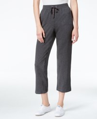 Karen Scott Petite Drawstring Capri Pants Only At Macy's Charcoal Heather