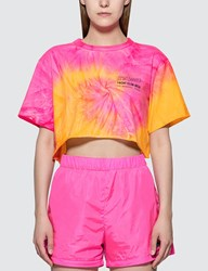 Misbhv Xtasea Spiral Tie Dye Cropped T Shirt Multicolor