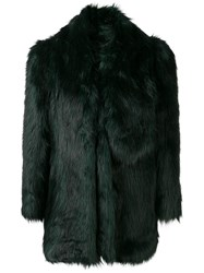Misbhv Oversized Faux Fur Jacket Green