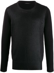 Unconditional Knitted Wet Look Jumper Black