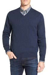 Nordstrom Men's Big And Tall V Neck Sweater Navy Iris Heather