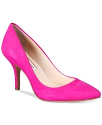 Inc International Concepts Womens Zitah Pointed Toe Pumps Only At Macy's Women's Shoes Deep Fuchsia Suede