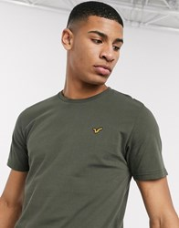 Voi Jeans Basic T Shirt In Khaki Green