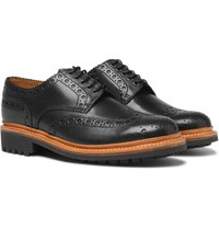 Grenson Archie Leather Wingtip Brogues Black