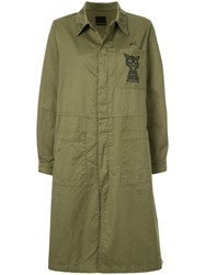 Hysteric Glamour Cat Print Coat Cotton Green