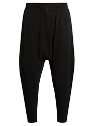 Homme Plisse Issey Miyake Dropped Crotch Pleated Trousers Black