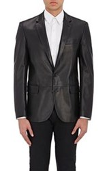 Ralph Lauren Black Label Leather Sportcoat Black