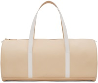 Pb 0110 Peach And White Leather Gym Bag