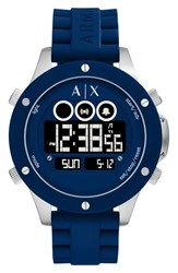 Armani Exchange Men's Ax Digital Silicone Strap Watch 48Mm
