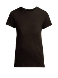 Atm Schoolboy Cotton Slub Jersey T Shirt Black
