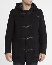 Gloverall Black Mid Length Duffle Coat