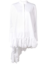 Alexander Mcqueen Lace Detailed Shirt White