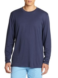 Saks Fifth Avenue Long Sleeved Tee Navy White Black