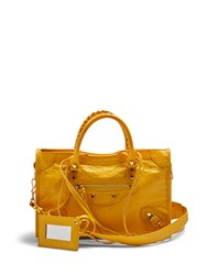 Balenciaga Classic City Small Leather Tote Yellow