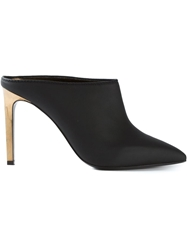 Lanvin Golden Heel Mules Black