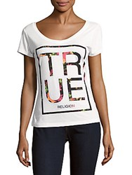 True Religion Printed Roundneck T Shirt White