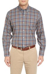 Tailorbyrd Men's Big And Tall 'Ferrari' Regular Fit Plaid Sport Shirt