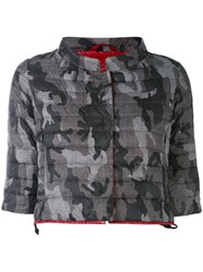 Duvetica Cropped Down Jacket Women Feather Down Polyamide 42 Grey